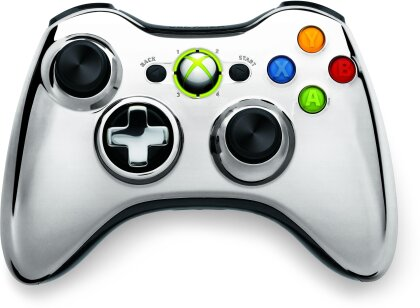 XBox360 Wireless Chrome Controller Silver