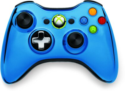 XBox360 Wireless Chrome Controller Blue