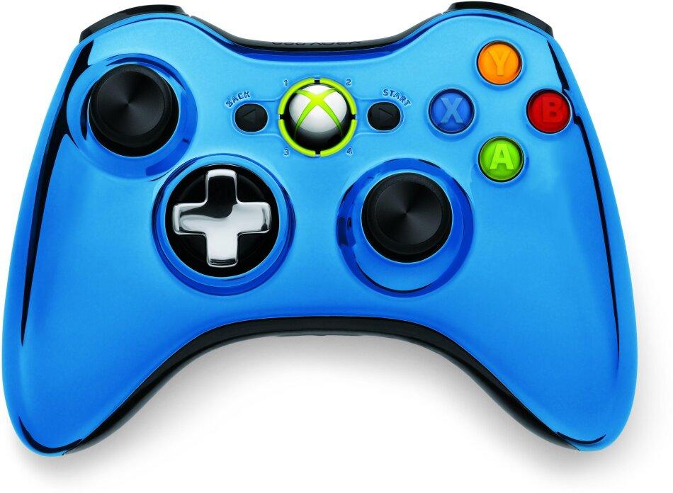 XBox360 Wireless Chrome Controller Blue