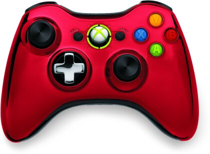 XBox360 Wireless Chrome Controller Red