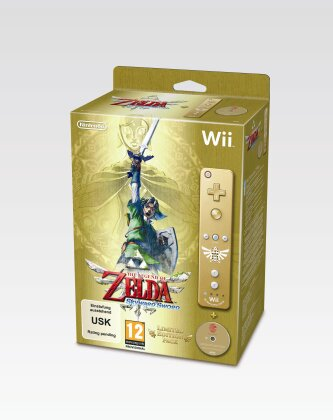Legend of Zelda Skyward Sword incl. Nintendo Remote Plus Controller Gold (Édition Limitée)