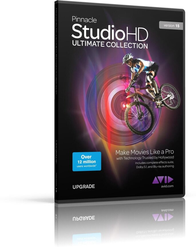 Pinnacle Studio 9+ to Ultimate Collection 15 HD Upgrade