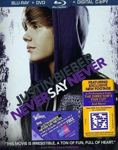 Never Say Never (Blu-ray + DVD + Digital Copy) - Justin Bieber