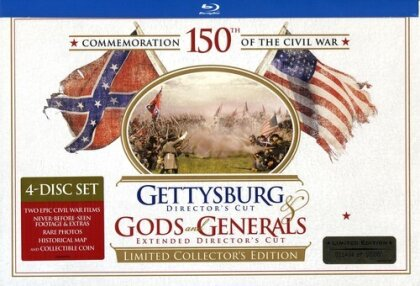 Gettysburg / Gods and Generals (Director's Cut, Edizione Limitata, Blu-ray + Libro)