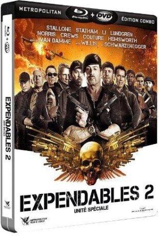 Expendables 2 - Unité spéciale (2012) (Steelbook, Blu-ray + DVD)