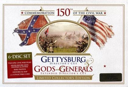 Gettysburg / Gods and Generals (Director's Cut, 6 DVDs + Buch)