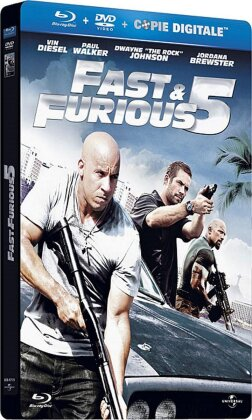 Fast & Furious 5 (2011) (Steelbook, Blu-ray + DVD)