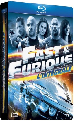Fast & Furious 1 - 5 (Steelbook, 5 Blu-ray)