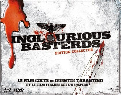 Inglourious Basterds (2009) (Collector's Edition, Steelbook, Blu-ray + 2 DVDs)