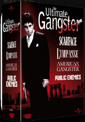 The Ultimate Gangster - American Gangster / Scarface / L'impasse / Public Enemies (4 DVDs)
