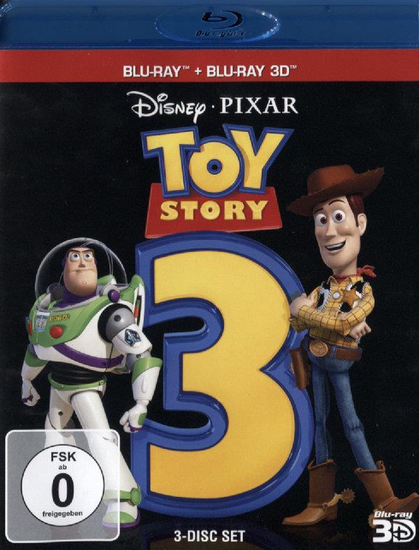 Toy Story 3 (2010) (Blu-ray 3D + 2 Blu-rays)