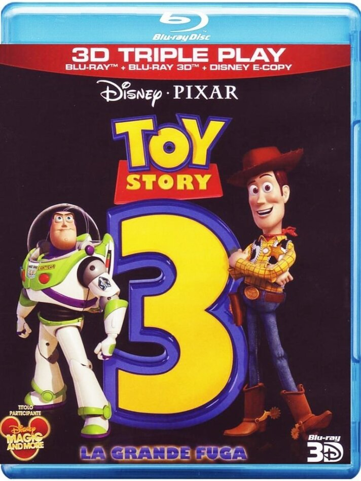 Toy Story 3 (2010) (Blu-ray 3D (+2D) + Blu-ray + DVD)