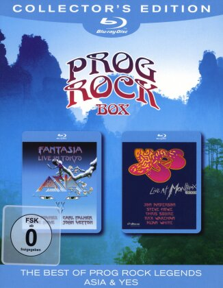 Asia & Yes - Prog Rock Box (Collector's Edition, 2 Blu-ray)