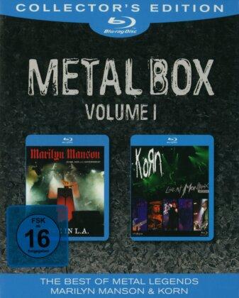 Manson Marilyn / Korn - Metal Box - Vol. 1 (Collector's Edition, 2 Blu-ray)