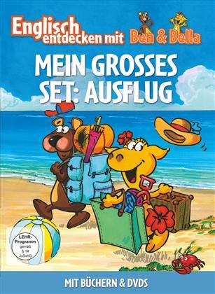 Mein Grosses Set: Ausflug - Englisch entdecken mit Ben & Bella (2 DVDs + Buch)