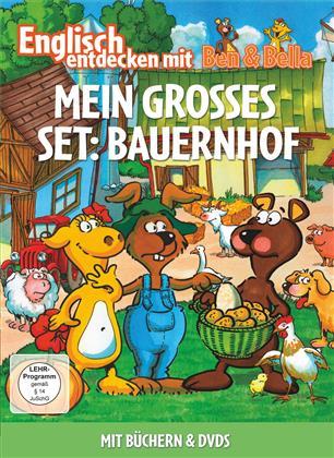 Mein Grosses Set: Bauernhof - Englisch entdecken mit Ben & Bella (2 DVDs + Buch)
