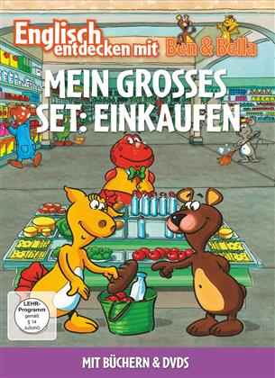 Mein Grosses Set: Einkaufen - Englisch entdecken mit Ben & Bella (2 DVDs + Buch)
