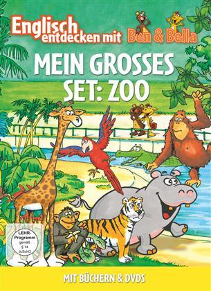 Mein Grosses Set: Zoo - Englisch entdecken mit Ben & Bella (2 DVDs + Buch)