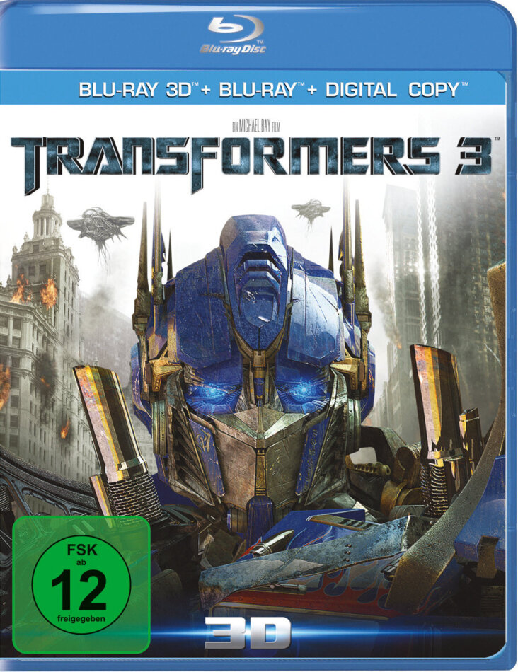 Transformers 3 - (Limited Edition Real 3D + 2D + Bonus Blu-ray) (2011)