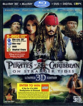 Pirates of the Caribbean 4 - On Stranger Tides (2011) (Blu-ray 3D + DVD)