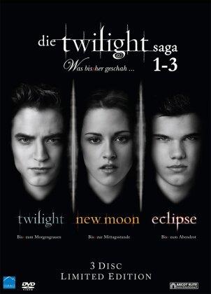 Die Twilight Saga 1-3 - Was bisher geschah (Limited Edition, 3 DVDs)