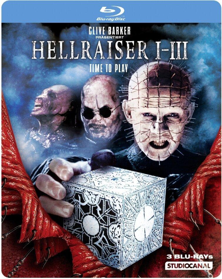 Hellraiser Trilogy (Steelbook, Uncut, 3 Blu-rays)