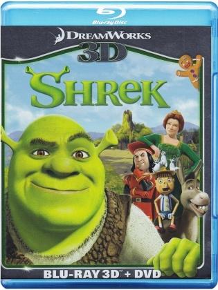 Shrek (2001) (Blu-ray 3D (+2D) + Blu-ray + DVD)