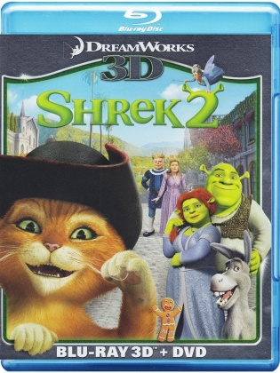 Shrek 2 (2004) (Blu-ray 3D (+2D) + Blu-ray + DVD)