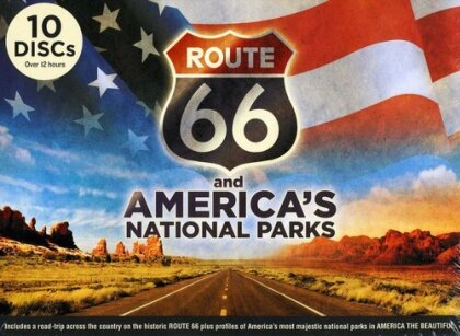 Route 66 and America's National Parks (Deluxe Edition, 9 DVDs + CD)