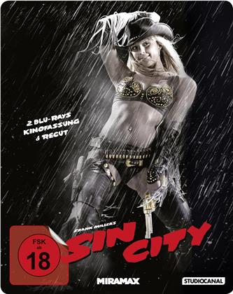 Sin City (2005) (Kinofassung & Recut-Version, Steelbook, 2 Blu-rays)