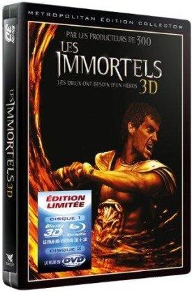 Les Immortels (2011) (Steelbook, Blu-ray 3D (+2D) + DVD)
