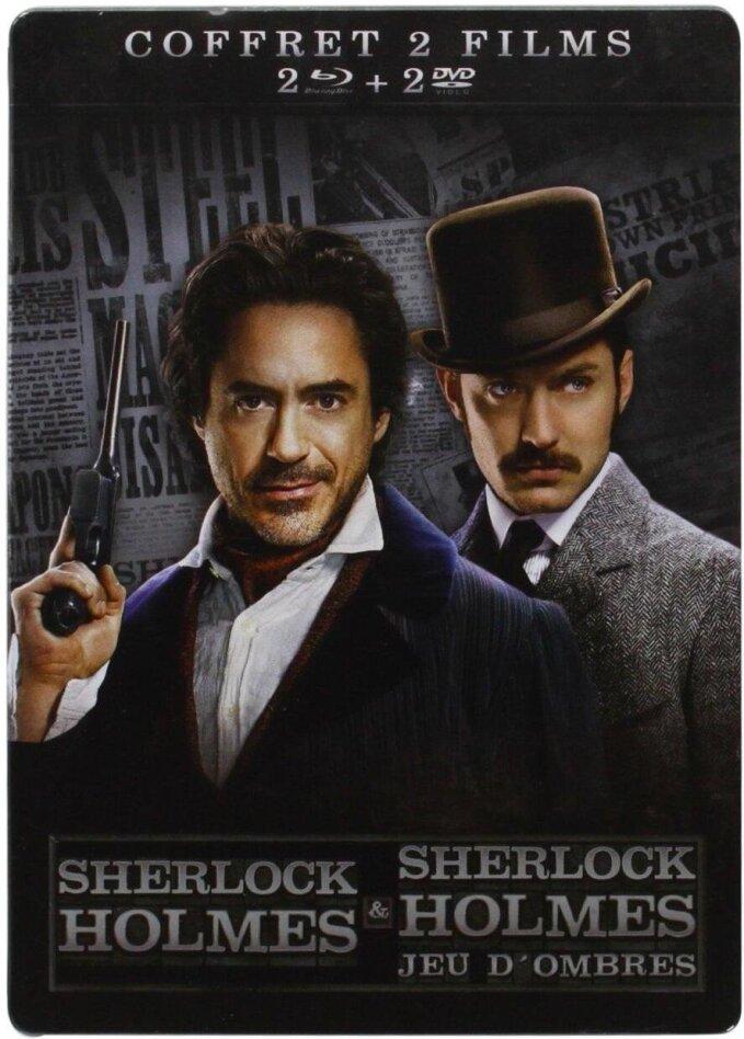 Sherlock Holmes 1 & 2 (Steelbook, 2 Blu-rays + 2 DVDs)