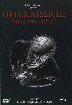 Hellraiser 3 - Hell on Earth (1992) (Black Edition, Limited Edition, Mediabook, Uncut, Unrated, Blu-ray + 2 DVDs)