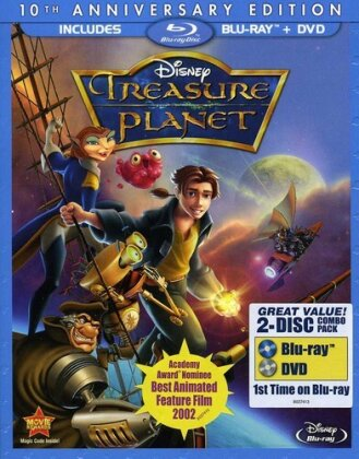 Treasure Planet (2002) (10th Anniversary Edition, Blu-ray + DVD)