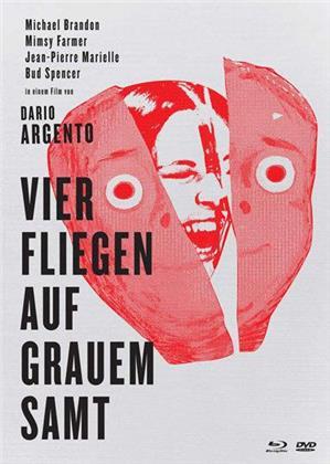 Vier Fliegen auf grauem Samt (1971) (Limited Edition, Mediabook, Uncut, Blu-ray + 2 DVDs)