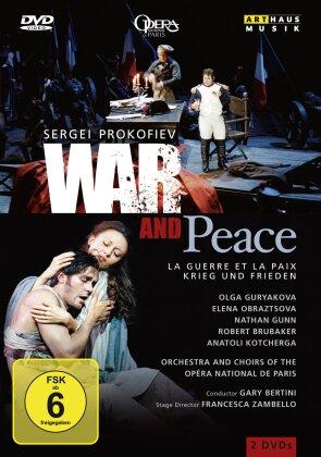 Orchestra of the Opera National de Paris, Gary Bertini, … - Prokofiev - War and Peace (Arthaus Musik, 2 DVDs)