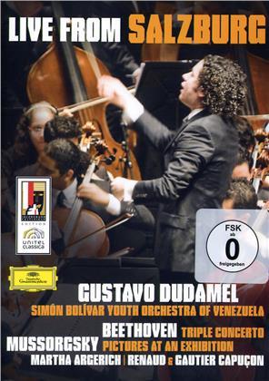 Simon Bolivar Youth Orchestra Of Venezuela, Gustavo Dudamel & Martha Argerich - Beethoven / Mussorgsky (Deutsche Grammophon)