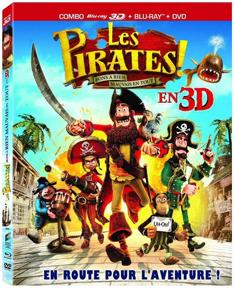 Les Pirates! - Bons à rien, mauvais en tout (2012) (Blu-ray 3D + Blu-ray + DVD)