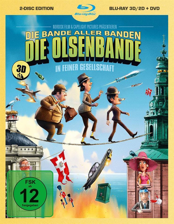 Die Olsenbande in feiner Gesellschaft - (Blu-ray 3D & 2D + DVD / 2 Discs)