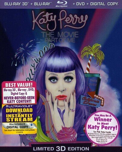 Katy Perry - Part of Me (Blu-ray 3D (+2D) + Blu-ray + DVD)