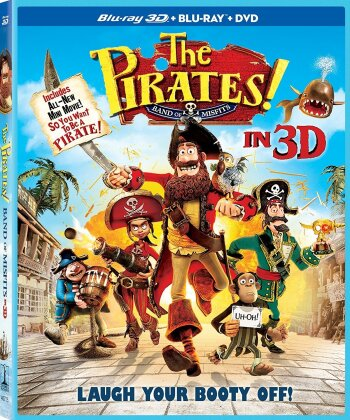 The Pirates! - Band of Misfits (2012) (Blu-ray 3D (+2D) + Blu-ray + DVD)