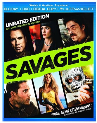 Savages (2012) (Unrated, Blu-ray + DVD)