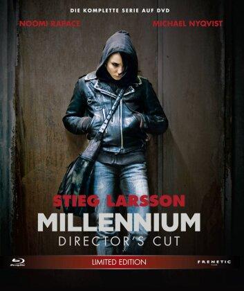 Millennium Trilogie (Director's Cut, Limited Edition, 3 Blu-rays + DVD)