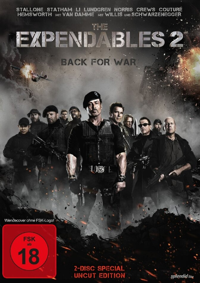 The Expendables 2 - Back for War (2012) (Special Edition, Uncut, 2 DVDs)