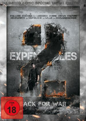 The Expendables 2 - Back for War (2012) (Limited Special Edition, Steelbook, Uncut, 2 DVDs)