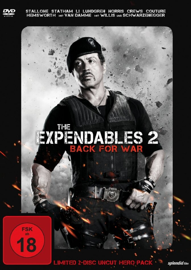 The Expendables 2 - Back for War (Limited Uncut Hero Pack 2 DVDs) (2012)
