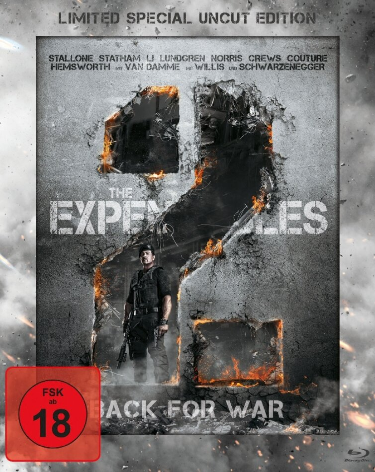 The Expendables 2 - Back for War (2012) (Limited Special Edition, Steelbook, Uncut)