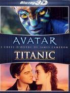 Avatar 3D (2009) / Titanic 3D (1997) (5 Blu-ray 3D (+2D) + DVD)