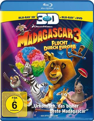 Madagascar 3 - Flucht durch Europa (2012) (Blu-ray 3D (+2D) + 2 Blu-rays + DVD)