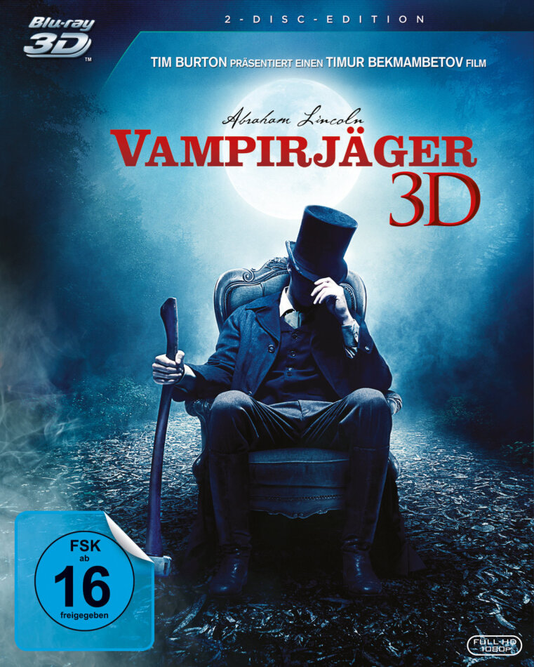Abraham Lincoln: Vampirjäger (2012) (Blu-ray 3D + Blu-ray)